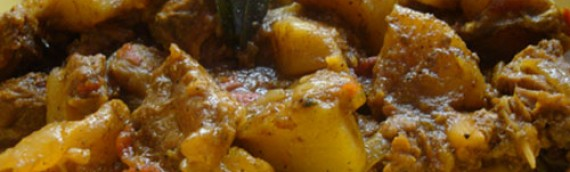 Kadachakka and Beef Curry/ Breadfruit and Beef Curry
