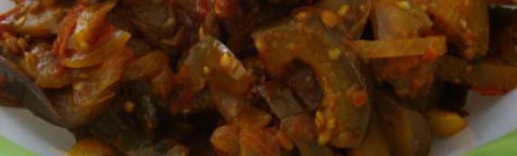 Brinjal Tomato Stir-fry