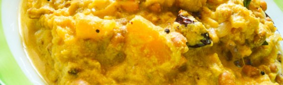 Erissery/ Pumpkin and Red Beans Curry