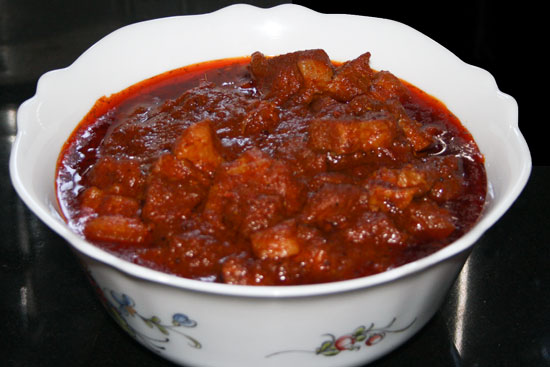 Pork Vindaloo' is a Kerala and Goan Christian specialty. It is a ...