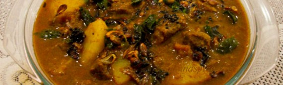 Varutharacha Beef Curry / Beef in Roasted Coconut Gravy