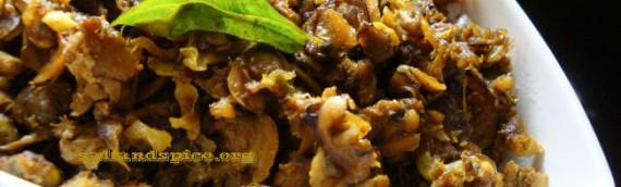Kakka Irachi Ularthiyathu / Clams Fry