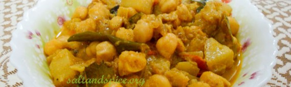 Potato and Chick Pea Korma