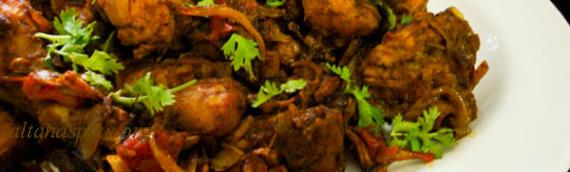 Chicken Stir Fry / Kozhi Ularthiyathu