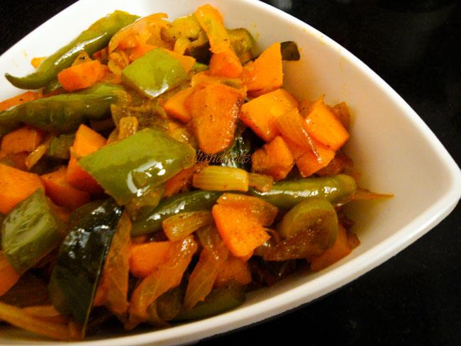 carrot-capsicum-subzi