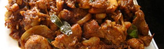 Kerala Pork Fry / Pork Ularthiyathu
