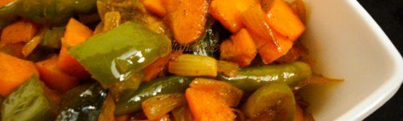 Carrot Capsicum Subzi